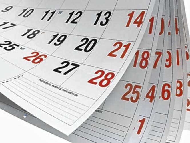 Dambretes kalendārs 2019.gadam